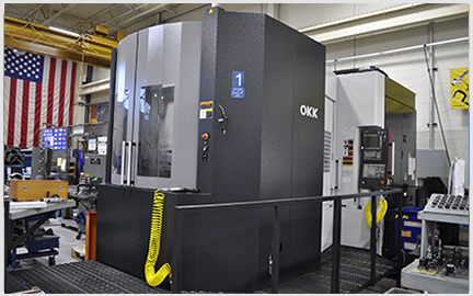 Photo of our High Speed OKK 4 Axis HM800S Horizontal Milling Machine