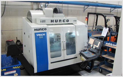 Photo of our 4 Axis Hurco VMX30 Milling Machine
