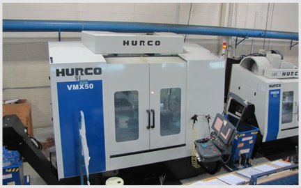 Photo of our Hurco 4 Axis VMX50 Milling Machine