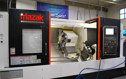 Photo of our Mazak QT-20L CNC Turning Center